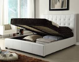 White Full Size Bed Trundle Frame — Derektime Design Simple