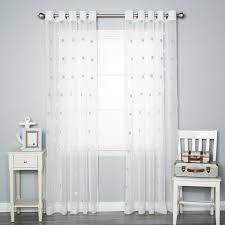 best home fashion inc pom pom polka dots sheer grommet curtain
