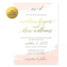 Watercolor Swash Wedding Invitations