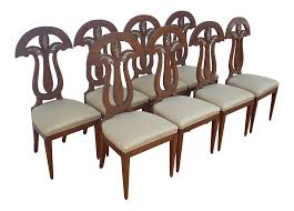 Empire Revival Dining Chairs - Set Of 8 | Chairish Baroque Ding Chair Black Epic Empire Set Of 6 Swedish Bois Claire Chairs 8824 La109519 Style Maine Antique Fniture Ruby Woodbridge Arm Stephanie Side Shown In Oak With An Asbury Brown Finish Amish 19th Century Walnut Burl Federal Cane Seat Six Gondola Barstool 210902427 Barchairs And Leather The Khazana Home Austin Crown Mark 2155s Upholstered Casa Padrino Luxury Armrests