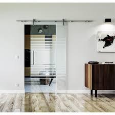 glasschiebetür edelstahl beschlag levidor design landshut