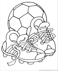 Coloring Pages Soccer S Shoes With The Ball Entertainment