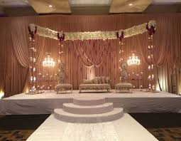 Indian And Muslim Stage Decor For Wedding Reception