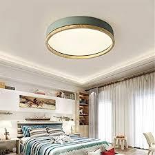 jinwell holz deckenleuchte weiß runde schlafzimmer le