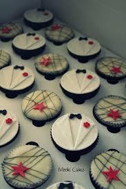 James Bond White Tuxedo Chocolate Orange Cupcakes