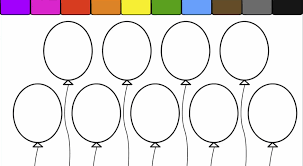 Learn Colors For Kids And Color This Balloon Coloring Page 2 Ballon