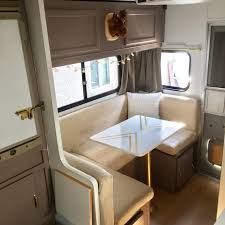 Rv Makeover Redo Lovely Truck Camper Trailer Remodel Before And