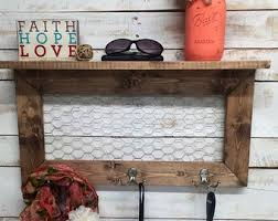Rustic Home Decor Entry Way Shelves Entryway Shelf Coat Rack