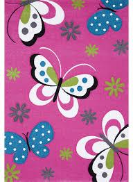tapis de chambre fille tapis chambre enfant papillons de la collection unamourdetapis