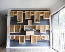 Pallet Basement Storage Shelves