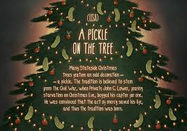 Pickle On Christmas Tree Myth by Seasons Traditions From Around The World Album On Imgur