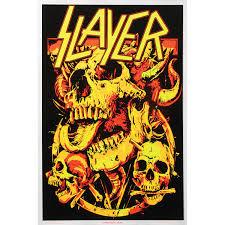 Slayer Skulls Blacklight Poster