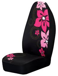 Oxgord Trim 4 Fit Floor Mats by Pink Flower Car Seat Cover Girly Car Accessory Car