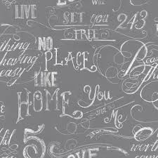 Graham & Brown Gray Chalk Board Wallpaper-50-821 - The Home Depot