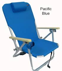 Rio Gear Backpack Chair Blue by Copa 4 Position Aluminum Folding Backpack Chair