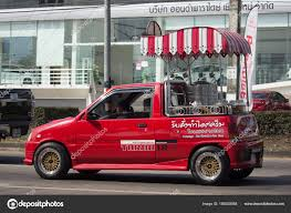 Coconut Icecream Shop On Daihatsu Mira Mini Truck. – Stock Editorial ...