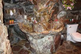exle of a bathroom in the madonna inn it s rather caveman