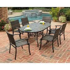 patio ideas hanover monaco 7 piece aluminum outdoor dining set