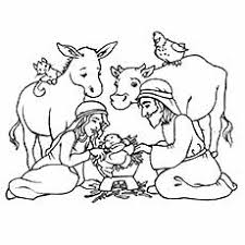 Nativity Coloring Pages Ox And Donkey