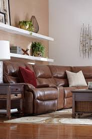 Havertys Furniture Leather Sleeper Sofa by The Havertys Nevada Leather Sectional Transitional Style By
