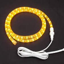 Yellow Custom Chasing Rope Light Kit 120v 3 Wire Novelty Lights