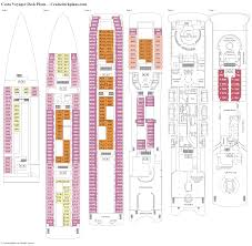 Carnival Valor Deck Plan 2014 by Costa Voyager Deck Plans Diagrams Pictures Video