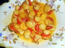 cuisiner des noix de st jacques recette de noix de st jacques a la creme safranée