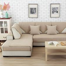 sofa canapé europe style light coffee polyester cotton sofa cover cotton
