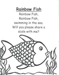 Marvelous Rainbow Fish Coloring Page Fee Printable Sheets For Kids Get This