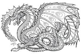 Dragon Coloring Pages Printable For Adults 7 Ball