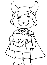 Kids Like Batman Halloween Costumes Print Coloring Pages