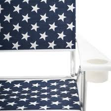 Navy Folding Chair With White Stars
