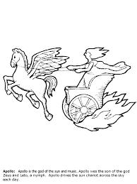 Apollo Greek God Coloring Page