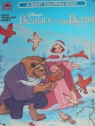 Disneys Beauty And The Beast Giant Coloring Book 1991 Golden
