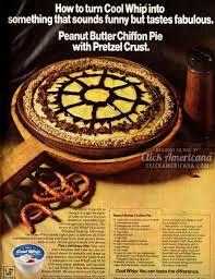 Pumpkin Chiffon Pie With Cool Whip by Peanut Butter Chiffon Pie With Pretzel Crust 1972 Click Americana