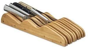 relaxdays messerblock aus bambus natur hbt ca 7 messer 5 x