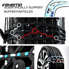 5Pca Universal Snow Chain Snow Tire Belt Thickened Anti Skid Chains ...