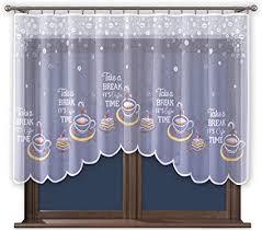 wisan vorhang weiß gardine mit kräuselband küche ohne bohren