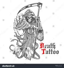 Grim Reaper Pumpkin Carving Ideas by Terrible Grim Reaper Death Scythe Character Stock Vector 404827993