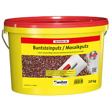 weber buntsteinputz mosaikputz 20 kg rot braun weiß