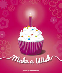 Birthday cupcake candle