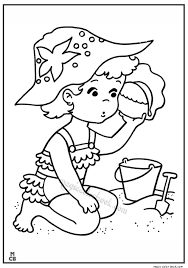 Beach Coloring Pages Summer