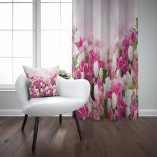 sonst rosa weiß tulpen blumen floral moderne 3d drucken wohnzimmer schlafzimmer fenster panel vorhang kombinieren geschenk kissen fall