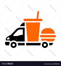 Delivery Trucks Flat Icon Royalty Free Vector Image