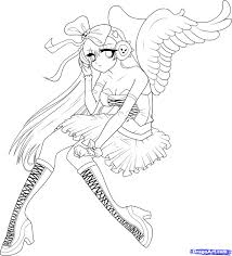 Wonderland Anime Coloring Pages Angel Girl