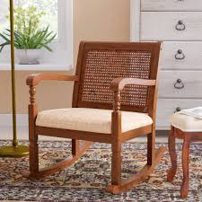 100 Unique Wooden Rocking Chair Douglass Solid Pine Wood With Fabric Seat
