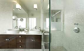 san francisco pearlescent tile bathroom contemporary with above