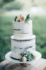 Picture Of Beautiful Semi Naked Cake With Succulents And Peach Colored Flowers
