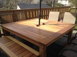 Simple Square Cedar Outdoor Dining Table