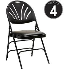 Samsonite XL Fanback Steel And Vinyl Folding Chair - Vinyl Black, Steel  Seat - Polypropylene Black Back - Steel Black Frame - Four-legged Base -  16.93 50 Pc Ivory Spandex Stretch Folding Arched Front Chair Covers Wedding Pair Of 1950s Heavy Steel Chairs By Samsonite 6 Pack Fabric Upholstered Padded Seat Metal Frame Fniture Black Cosco Oversized Set 4 Cushion Material Garden Upc 042952096731 Of 7 Sudden Comfort By Meco Deluxe Xl Fanback Case4 516592899 Neutral Recover Your Old 4pack